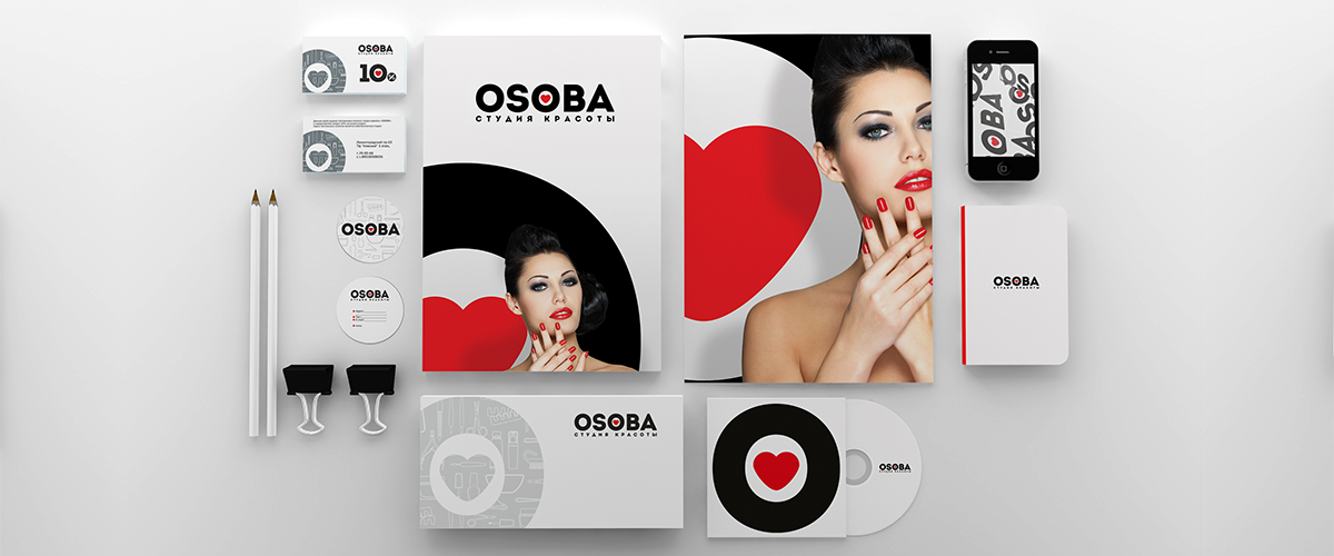 Разработка логотипа и фирменного стиля для студии красоты OSOBA от GoldMetod
